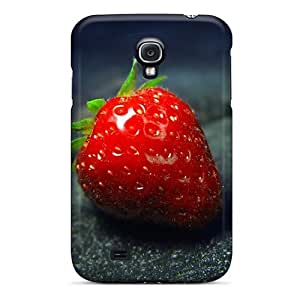 Anti-scratch And Shatterproof Strawberry Fruit Food Hd S Phone Case For Galaxy S4/ High Quality Tpu Case