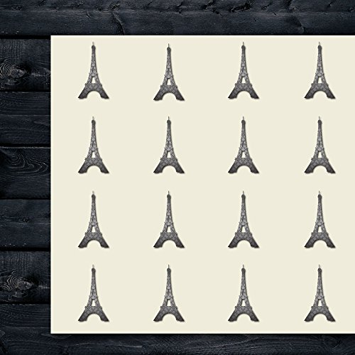 Eiffel Tower Craft Stickers, 44 Stickers at 1.5 Inches, Great Shapes for Scrapbook, Party, Seals, DIY Projects, Item (Eiffel Tower Crafts)