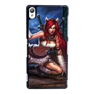 Sony Xperia Z3 Cell Phone Case Black League of legends-Katarina AS7YD3619640