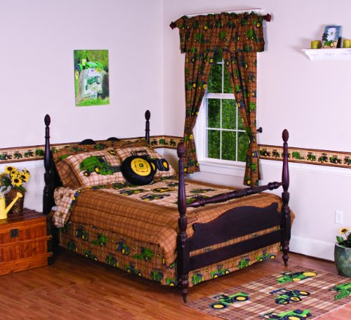 Amazon.com: JOHN DEERE Bedding Traditional Tractor and Plaid ...