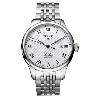 Tissot Men's T41148333 Le Locle Silver-Tone Watch with Textured Dial and Link Bracelet