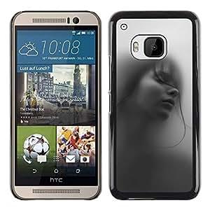 Be Good Phone Accessory // Dura Cáscara cubierta Protectora Caso Carcasa Funda de Protección para HTC One M9 // Girl Woman Deep Beautiful Black White