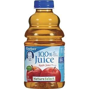 Gerber Nature Select Baby 100% Fruit Juice 32 Fl Oz (Pack of 2) (100% Apple Juice)
