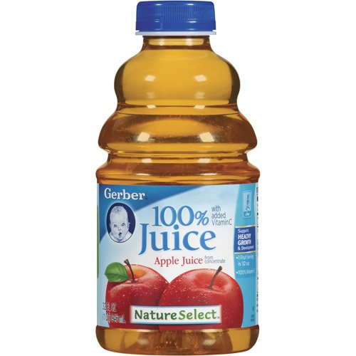 Gerber Nature Select Baby 100% Fruit Juice 32 Fl Oz (Pack of 2) (100% Apple Juice)