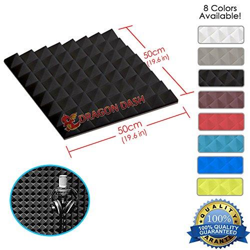 dragon-dash-1-piece-of-196-x-196-x-19-inches-black-acoustic-soundproofing-pyramid-foam-studio-treatm