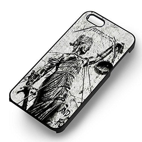 Metallica et Justice pour All pour Coque Iphone 6 et Coque Iphone 6s Case (Noir Boîtier en plastique dur) L2N2AL