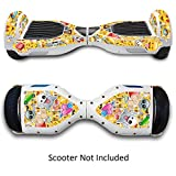 Skin for Self-Balancing Electric Scooter - Sticker for Skate Hover Board - Decal for Self Balance Mobility Longboard - Smart Protective Cover Vinyl Case for 2 Wheel Scooter Bluetooth Drifting Board