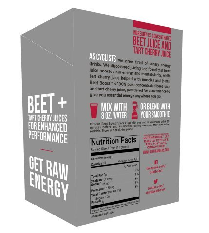 NutriGardens® BeetBoost® Natural Energy Drink Mix (10-Servings)