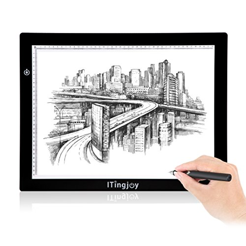 ITingjoy A3 Size Tattoo Light Box Board LED Adjustable Illumination Tracer 12x17 Inch Light Table for Tracing