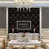 Corsion 3D Stone Brick Wallpaper, 3D Vintage Leather Textured Wallpaper PVC Mural Realistic Look Waterproof (A)