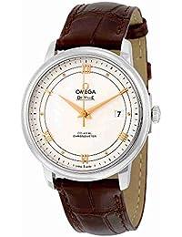 De Ville Prestige Silver Dial Brown Leather Mens Watch 424.13.40.20.02.002