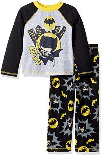 Komar Kids Batman Chibis Pop Figure Boys Pajamas (4T, Black)