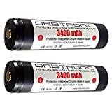 3400mAh 18650 Battery ORBTRONIC PROTECTED Button Top Rechargeable High Performance Li-ion 3.7V