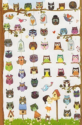 l Artistic Owls Stickers (57 Stickers) (Artistic Stickers)