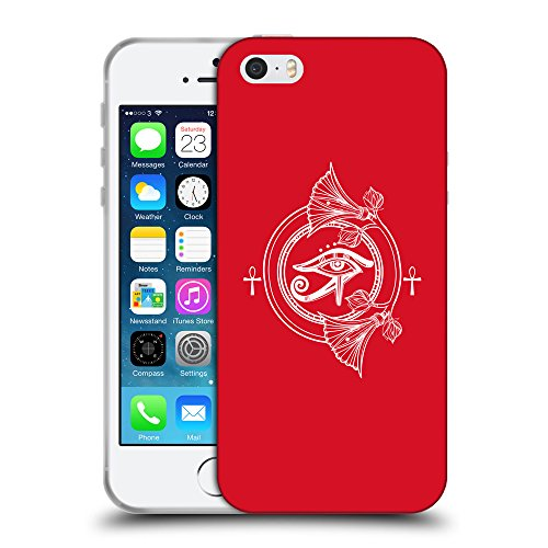 GoGoMobile Coque de Protection TPU Silicone Case pour // Q09820624 Religion 22 Cadmium Rouge // Apple iPhone 5 5S 5G SE