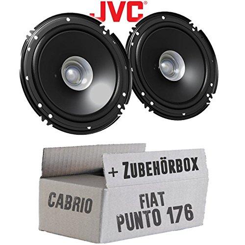 Lautsprecher Boxen JVC CS-J610X JUST SOUND best choice for caraudio 16cm Auto Einbauzubeh/ör 300Watt Koaxe KFZ PKW Paar Einbauset f/ür FIAT Punto 1 176 Cabrio Front