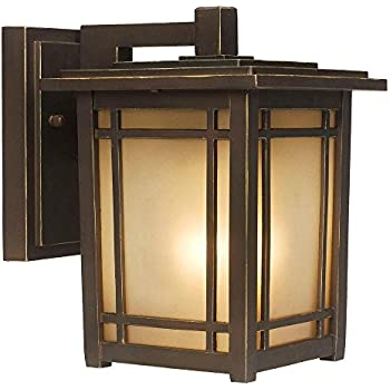 home decorators collection port oxford 1 light outdoor oil rubbed chestnut wall lantern