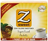 Zsweet All Natural Zero Calorie Sweetener, 40-Count, 1.4-Ounce Boxes (Pack of 6)
