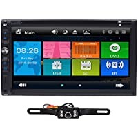 7 Inch HD Touch Screen Double 2 DIN Car Stereo DVD Player Bluetooth IPod MP3 CD+Reverse Camera