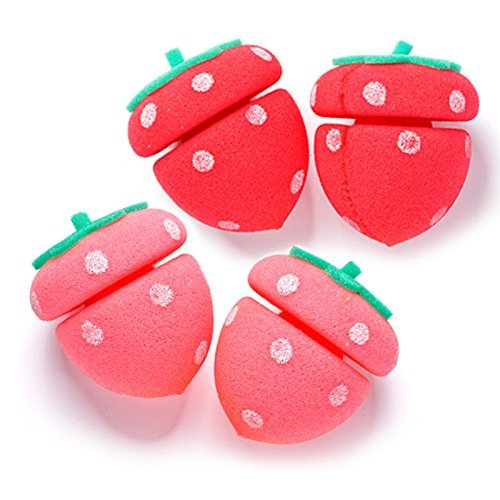 y Tool Strawberry Sponge Hair Roll 4pcs / 1ea (Roll Strawberry)