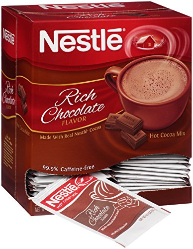 Single Serving Hot Chocolate - Nestle Hot Cocoa Mix, Rich Chocolate, 50 Count, 0.71 Ounce Packets