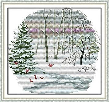 Christmas gift,11CT Counted 35cm/×35 or 13.65/×13.65 Joy Sunday Cross Stitch kits
