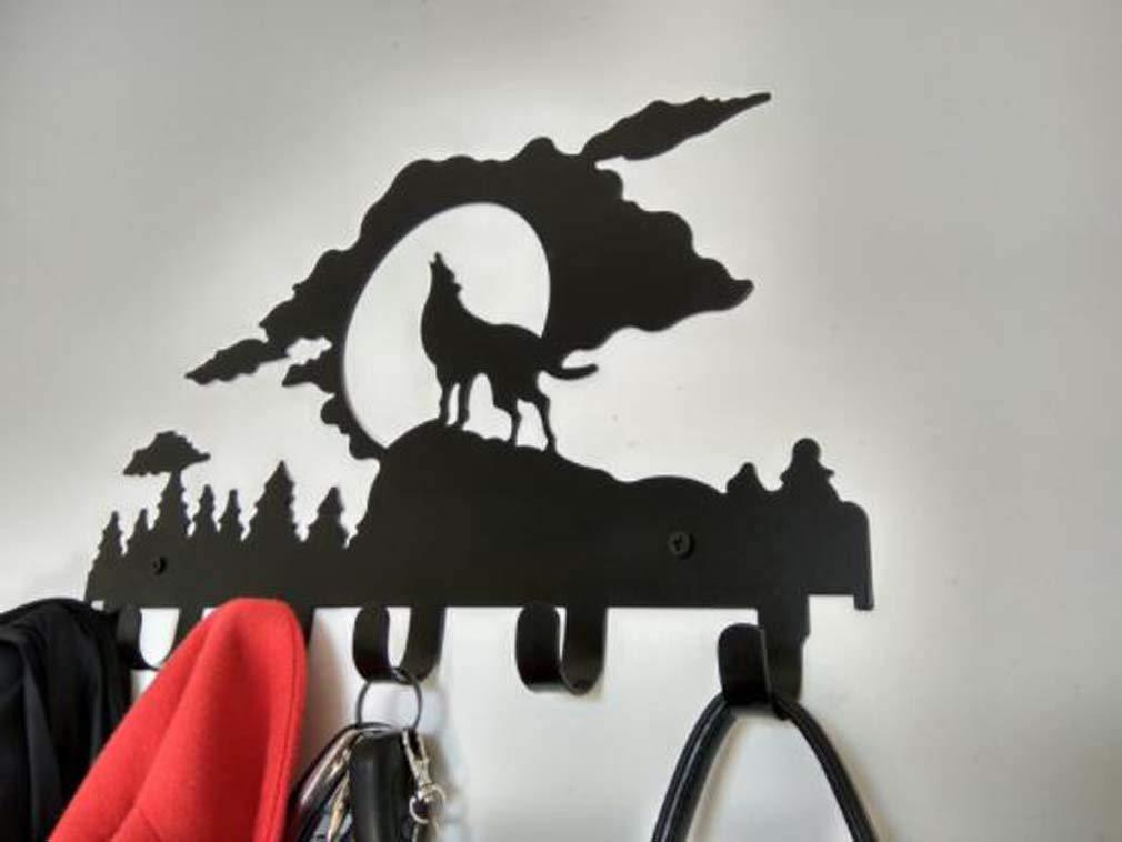 MSLYDYG Perchero de Hierro Colgante Perchero de Entrada montado en la Pared con 6 Ganchos para Pasillo Ba/ño Sala de Estar Cocina