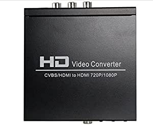 Av / Cvbs / Hdmi to Hdmi 720p / 1080p Hd Video Converter (Black)