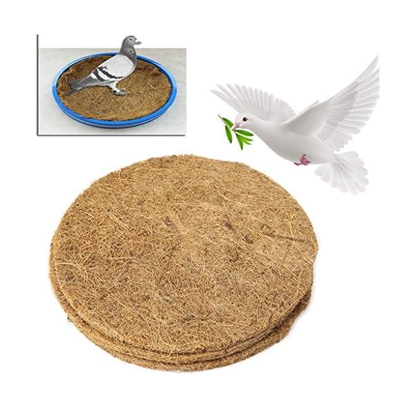 Lwl220 Pigeon Supplies Bowl Grass Mat Dehumidification Bird Eggs Basin Nest Accessories