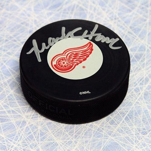 Mark Howe Signed Puck - Detroit Red Wings - Autographed NHL Pucks