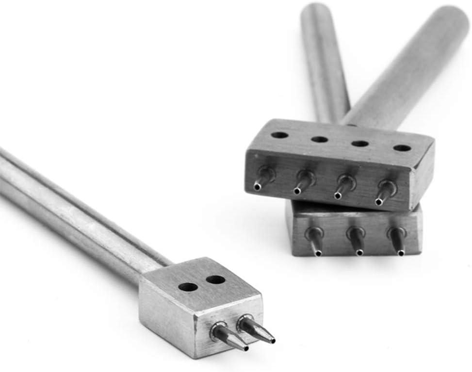 Ycncixwd Outil de perforation pour cuir 4 mm de diam/ètre 1 mm de diam/ètre 3