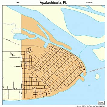Apalachicola Florida Map.Amazon Com Large Street Road Map Of Apalachicola Florida Fl