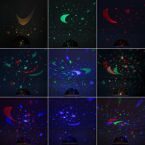 SCOPOW Lighting Night Light Star Projector with Timer Auto-Shut Off, 360 Degree Rotation Colorful Moon Night Lamp Decorative Gift for Baby Kid Children Bedroom Nursery Decor by SCOPOW (Image #7)