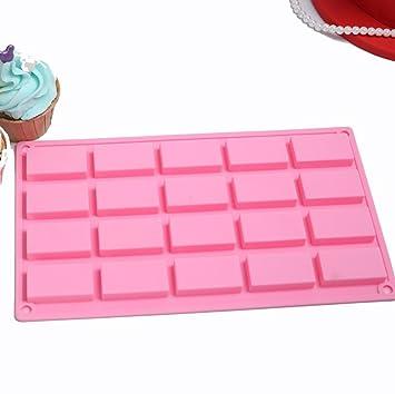 dingsheng de repostería para mini molde de silicona para jabón casero, tarta, Chocolate, Candy, Cookie, y más: Amazon.es: Hogar