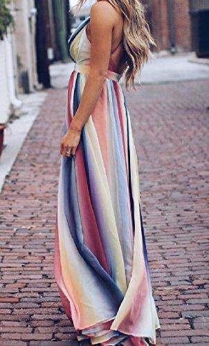 Coolred-femmes Traversent Sexy Dos Ouvert Robe De Bal Maxi Printemps Floral Longue Motif1 Robe