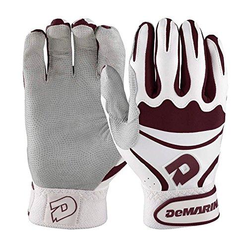 DeMarini Adult Insane Batting Gloves, Maroon, XX-Large Maroon Batting Gloves