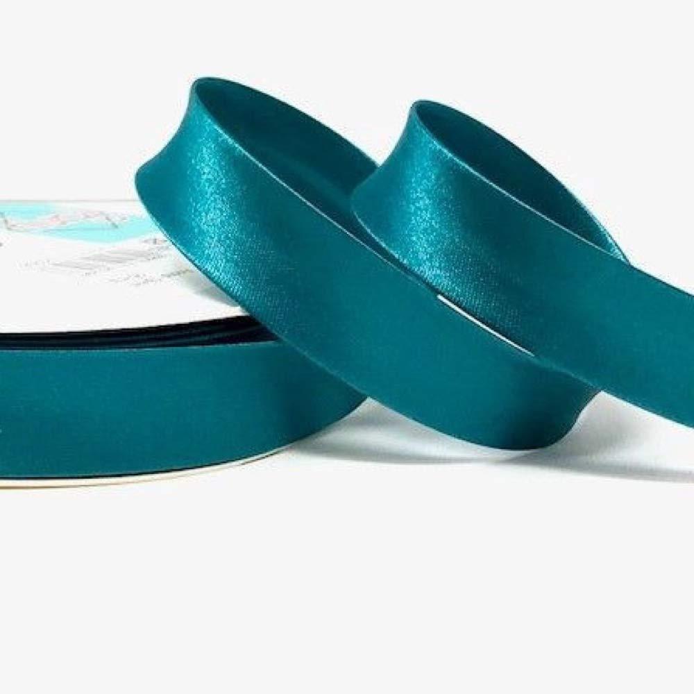 Plush Addict Satin Bias Binding Per Metre 18mm Wide Jade