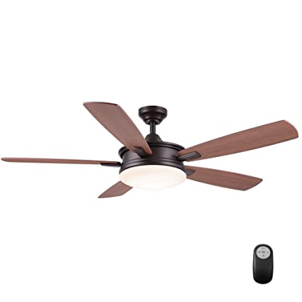 Home decorators collection daylesford 52 in oiled rubbed bronze led ceiling fan