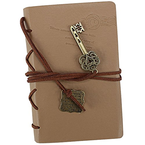 Mini Softcover Travel Journal with Leather Accents and Medallions by Studio Nouveau