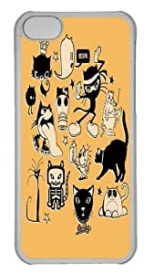 TYHde iPhone 6 plus 5.5 Case and Cover - Cat Menagerie Polycarbonate Hard Case Back Cover for iPhone 6 plus 5.5 Transparent ending