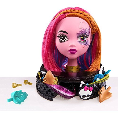 [Monster High Gore-geous Ghoul Styling Head, Pink] (Monster High Kitty)