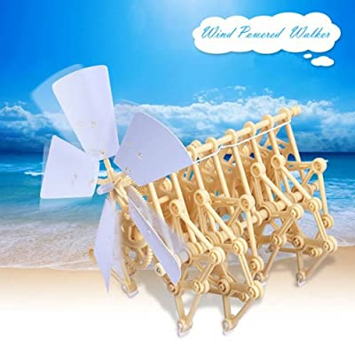 Wind Powered Walking Walker Mini Strandbeest DIY Assembly Model Kits by Big Bargain