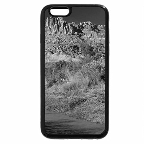 iPhone 6S Case, iPhone 6 Case (Black & White) - the castle along the freemont river utah