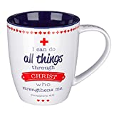 Blessings for Nurses Inspirational Mug - Philippians 4:13, Proverbs 17:22