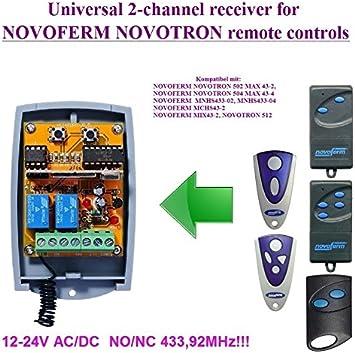 Telecommande Novoferm Novotron 502 fréquence 433.92 Mhz 2 canaux