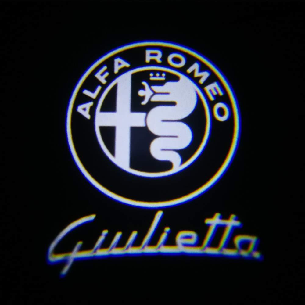 WILNARA 2 Unids LED Luz de La Puerta Del Coche Bienvenida L/ámpara de Proyecci/ón
