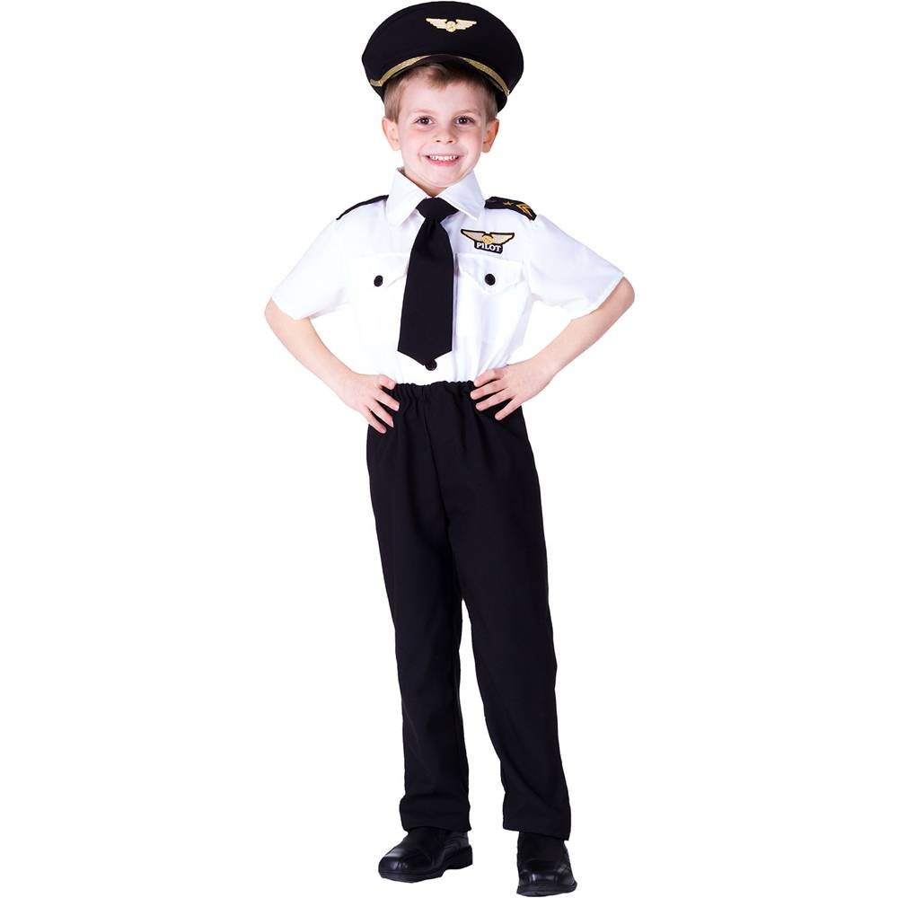 As Shown 33  height),toddler t2 (29  waist Little Boys Size 4 6 White Deluxe Pilot Halloween Costume Outfit