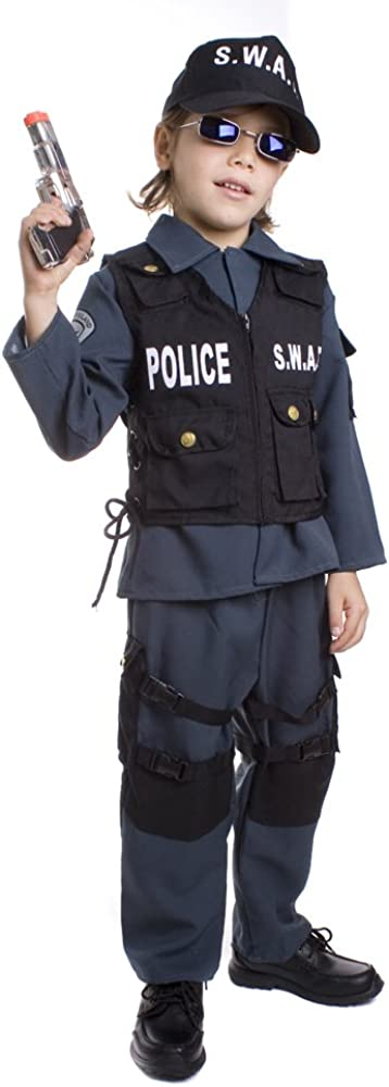 B001796PSY Deluxe Childrens S.W.A.T. Police Officer Costume Set 51wbfegI7tL