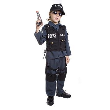 Dress up America - S.W.A.T. Policía Disfraz para Niños De Carnaval ...