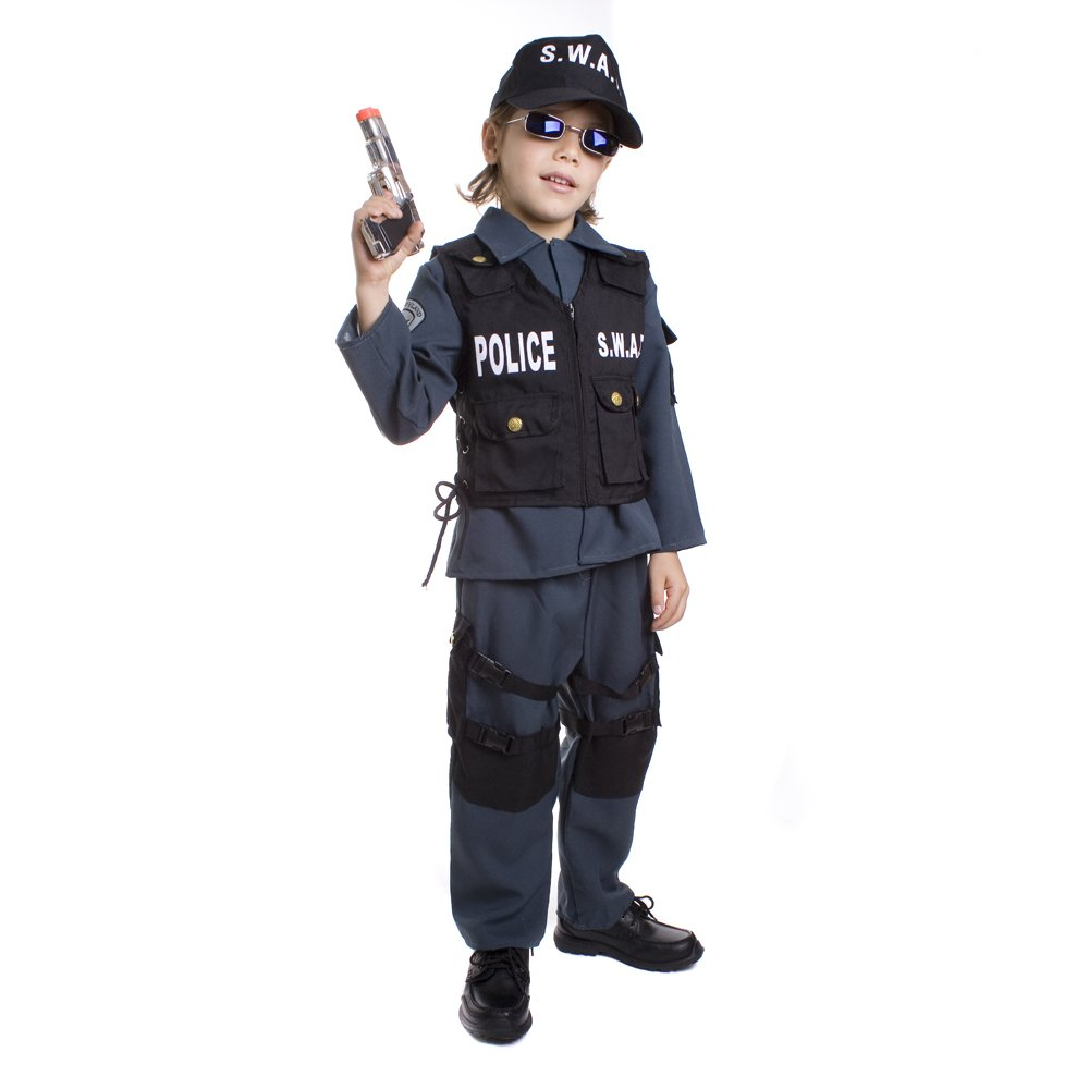 Deluxe Childrens S.W.A.T. Police Officer Costume Set - Medium